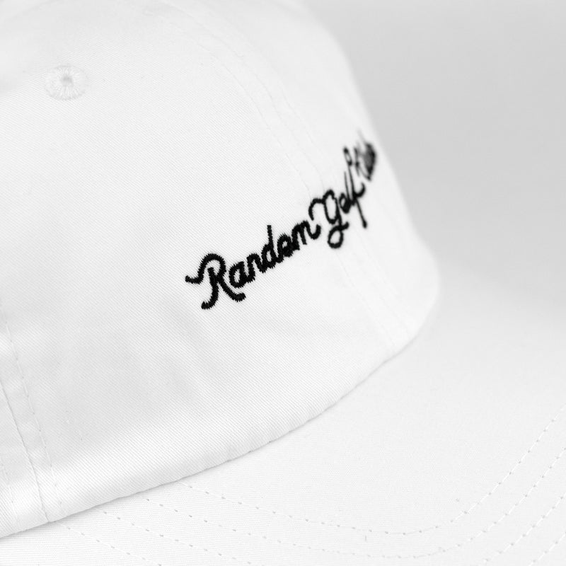 Women's Script Dad Hat (White/Black)