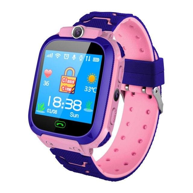 6792d2b12 ... Kids Smart Watch Phone With Gps Tracker For Boys   Girls - Pink -  Gadgets