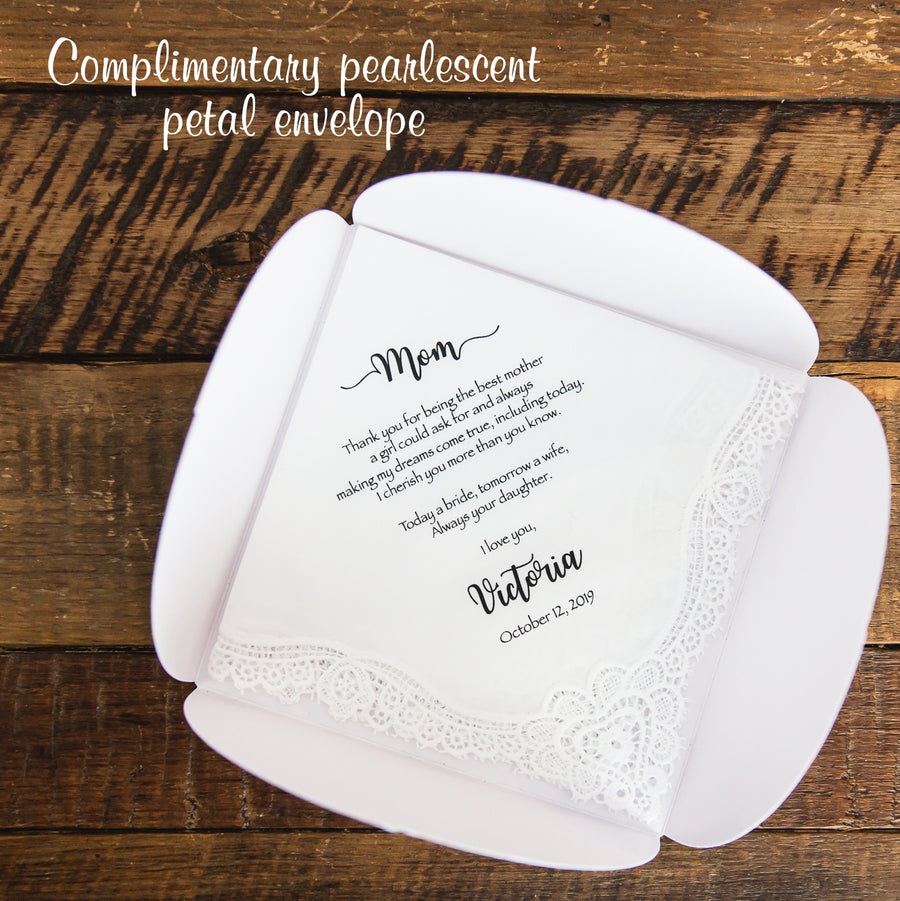 Mother & Father of the Bride Handkerchief from the Groom (POBG)