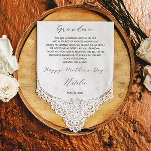Mother's Day Handkerchief for Grandma
