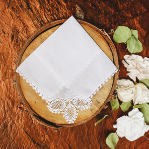 Crochet Lace Wedding Handkerchief