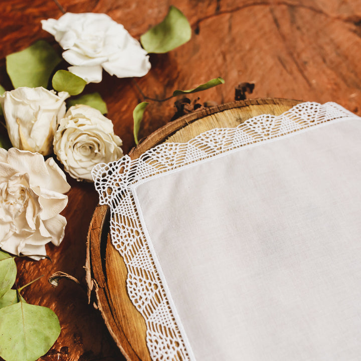 Sweetheart Lace Bridal Handkerchief