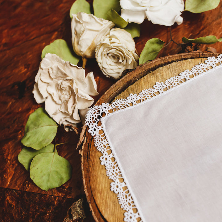 Flower Tip Lace Handkerchief