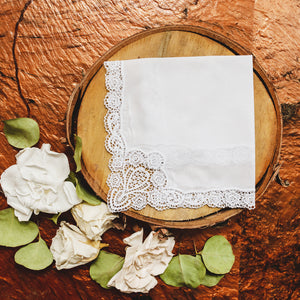 Regal Cluny Lace Womens Handkerchief