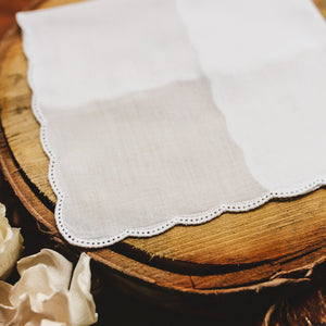 Scallop Picot Lace Womens Handkerchief