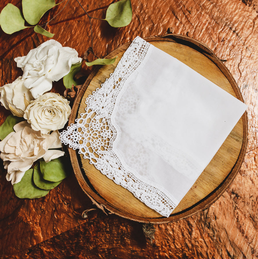Plauen-inspired Lace Womens Handkerchief