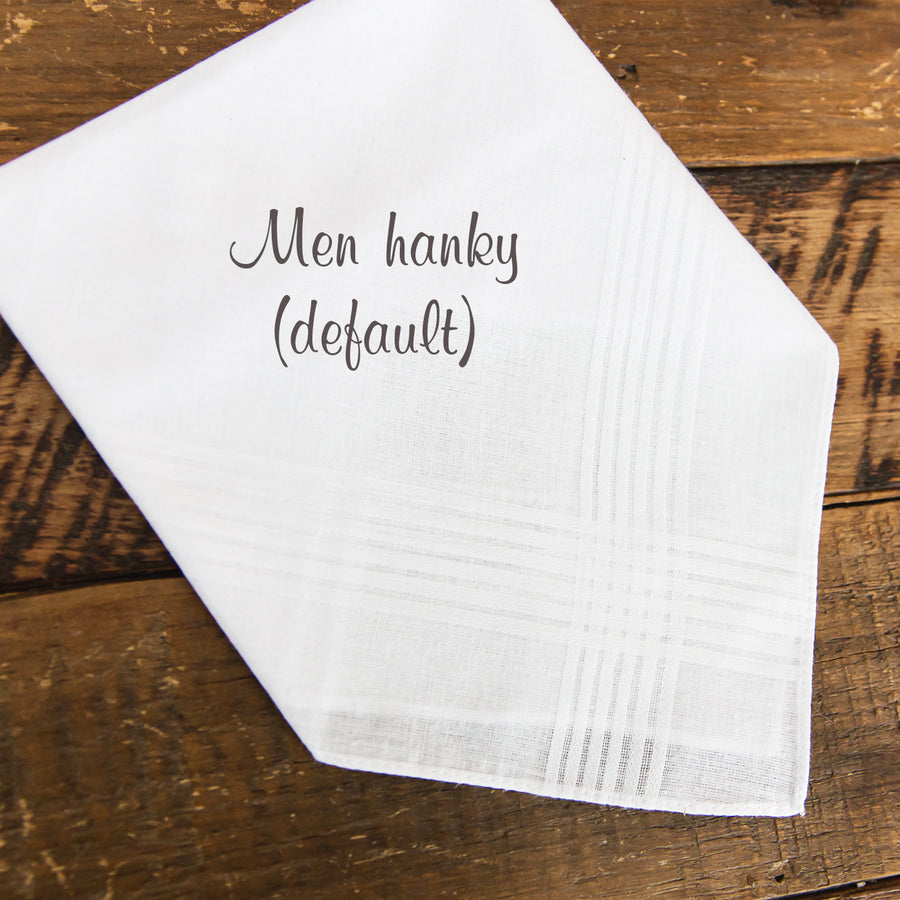 Mother & Father of the Bride Handkerchief from the Bride (POBN-POGN)