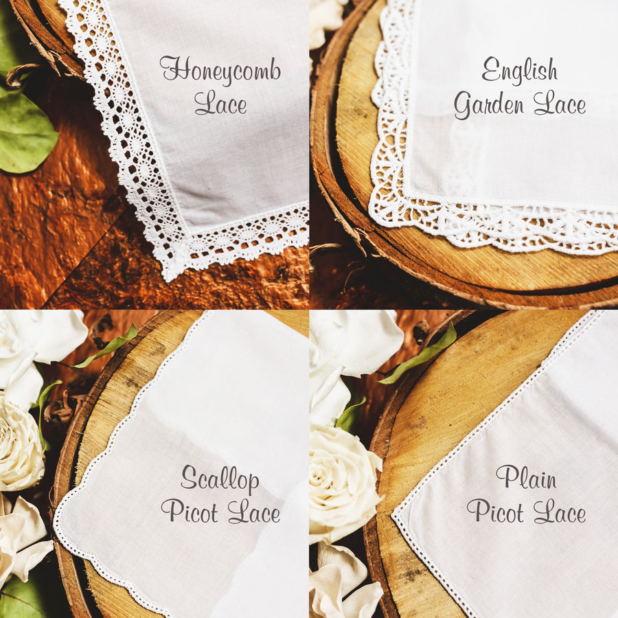 Monogram Wedding Handkerchief (Mono1)