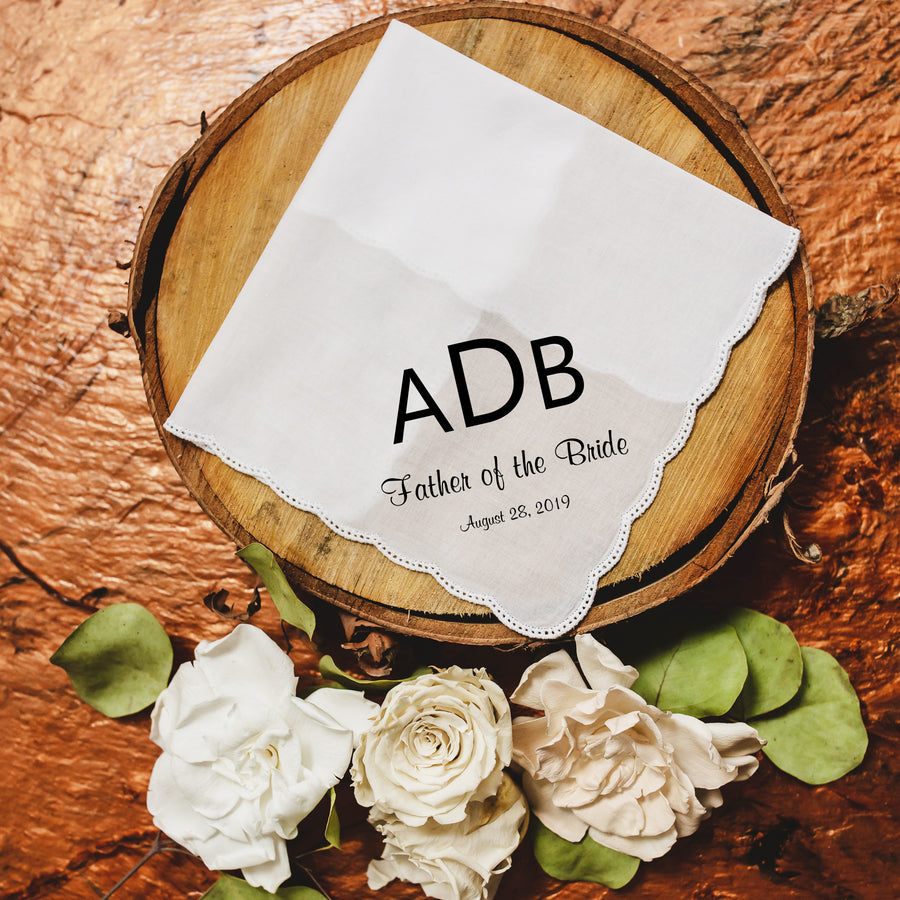 Monogrammed Wedding Handkerchief (Mono2)