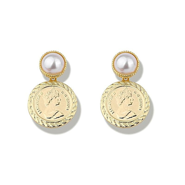 Drop Coin Earrings - Gilly and Bae