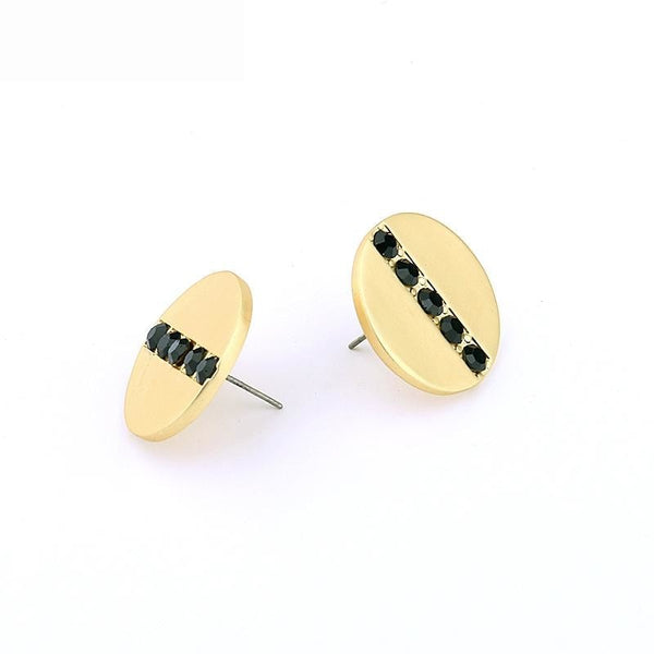 Gold Button Stud Earrings - Gilly and Bae