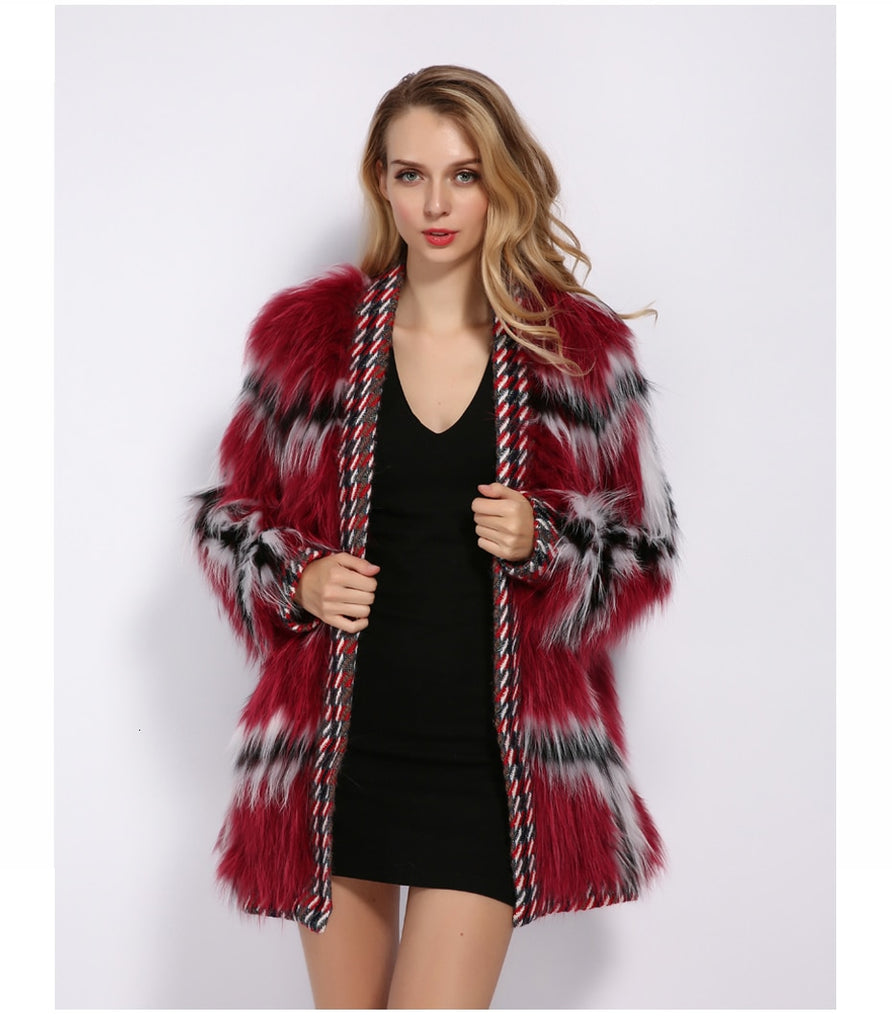 Classy Always Real Fur Warm Coat , Jacket- Gilly and Bae