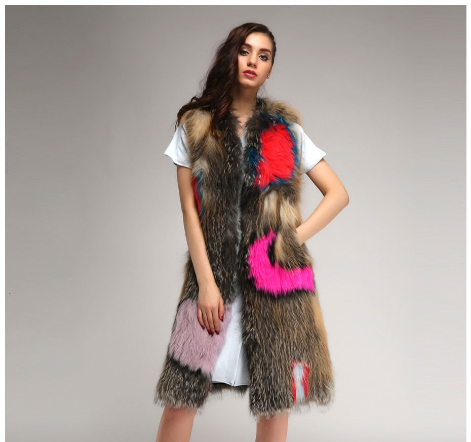 It's Fur The Best Real Fur Vest , Jacket- Gilly and Bae