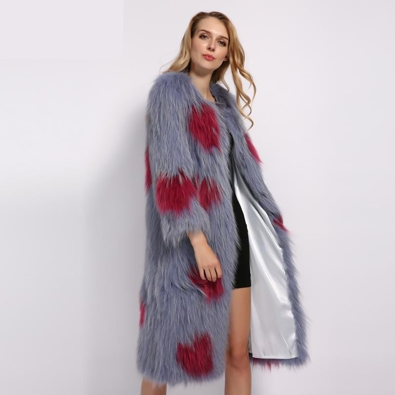 Queen of Heart Real Fur Jacket , Jacket- Gilly and Bae