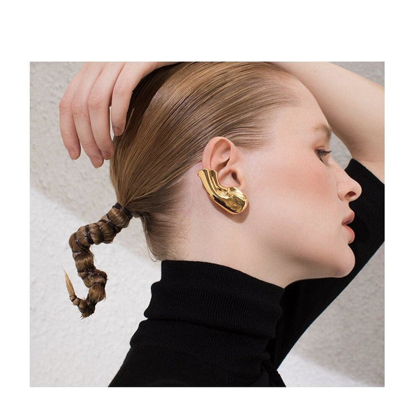 Punk Earlobe Ear Cuff Clip On Earrings - Gilly and Bae