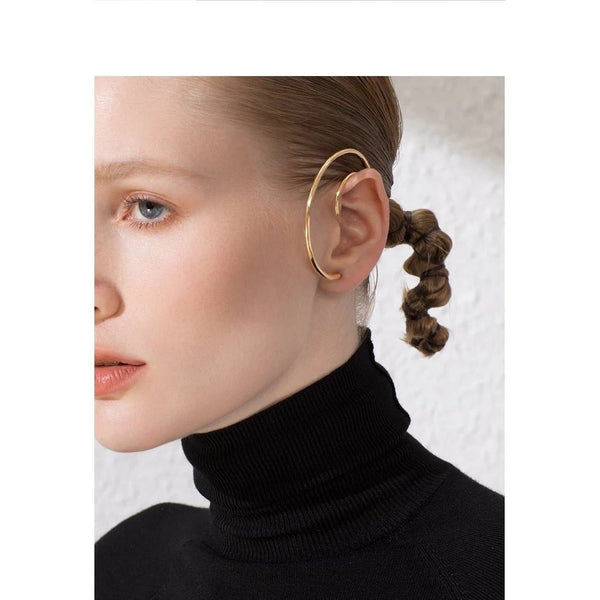 Big Circle Hoop Earrings - Gilly and Bae