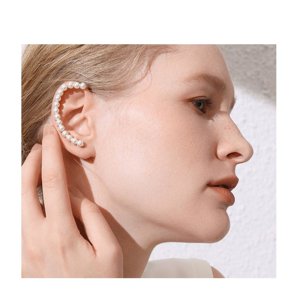 Pearl Ear Cuff Clip On Earrings - Gilly and Bae