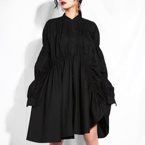 Will Do The Trick Irregular Pleated Dress , dress- Gilly and Bae