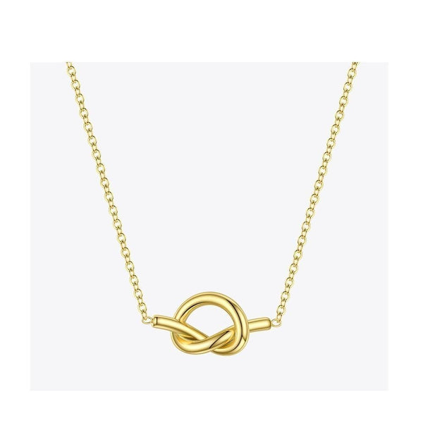 Hollow Knot Pendant Necklace - Gilly and Bae