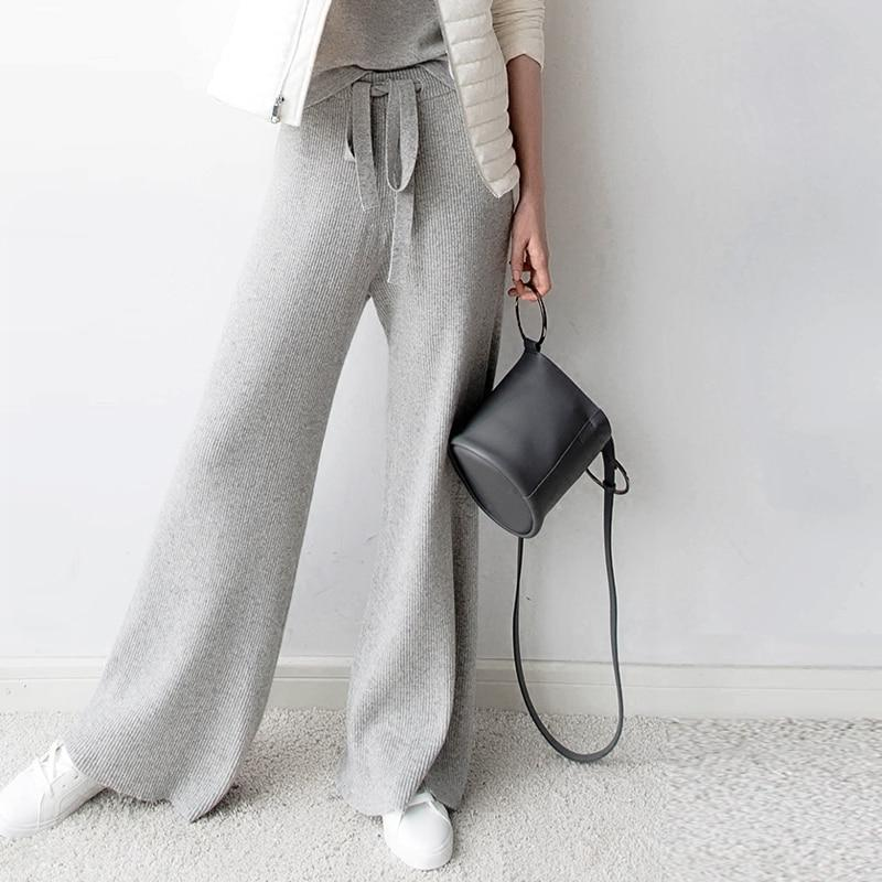 Keeping you warm Cashmere wide-legged trousers , bottom- Gilly and Bae