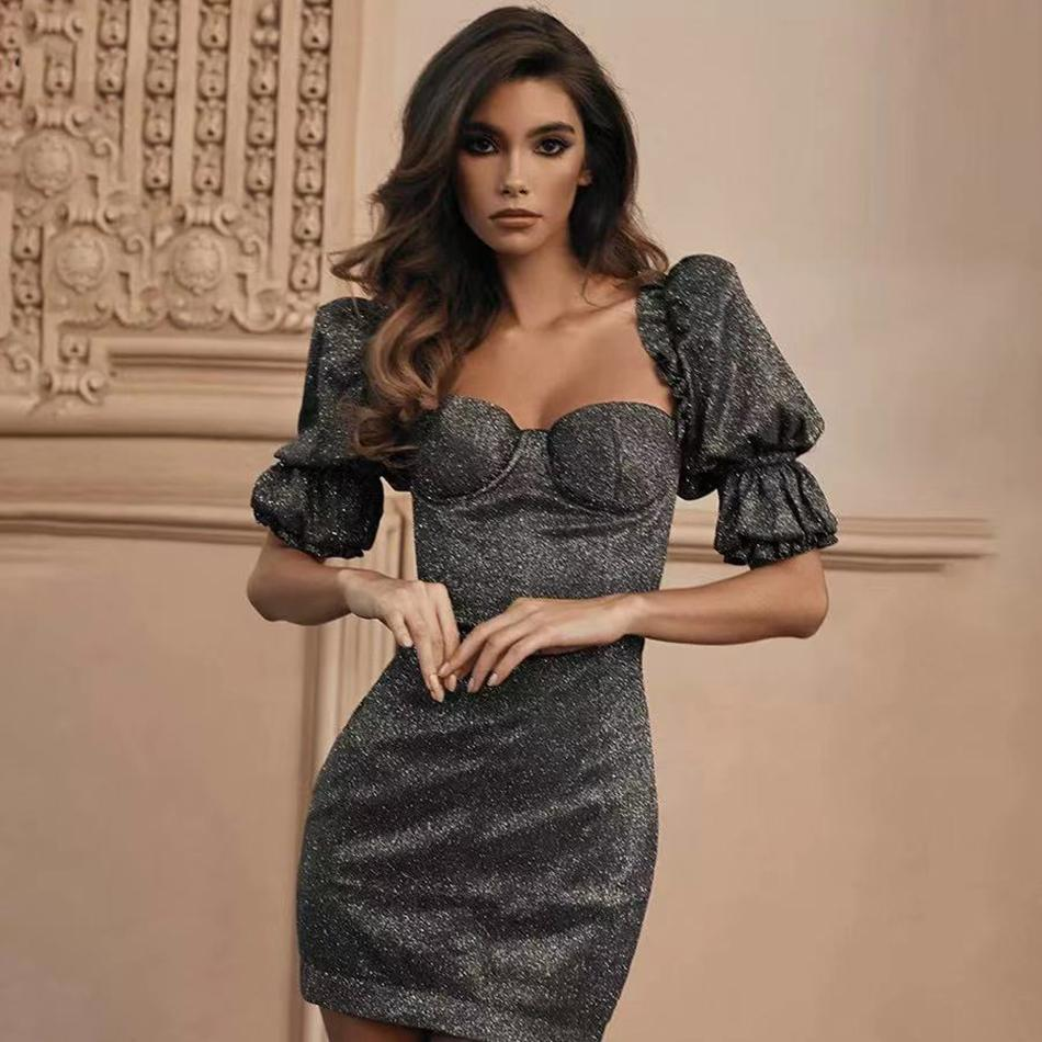 Top Priority Bubble Sleeve Mini Dress , dress- Gilly and Bae