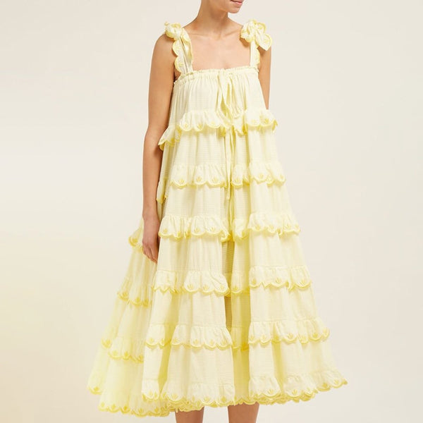 Alessandra Ruffles Dress