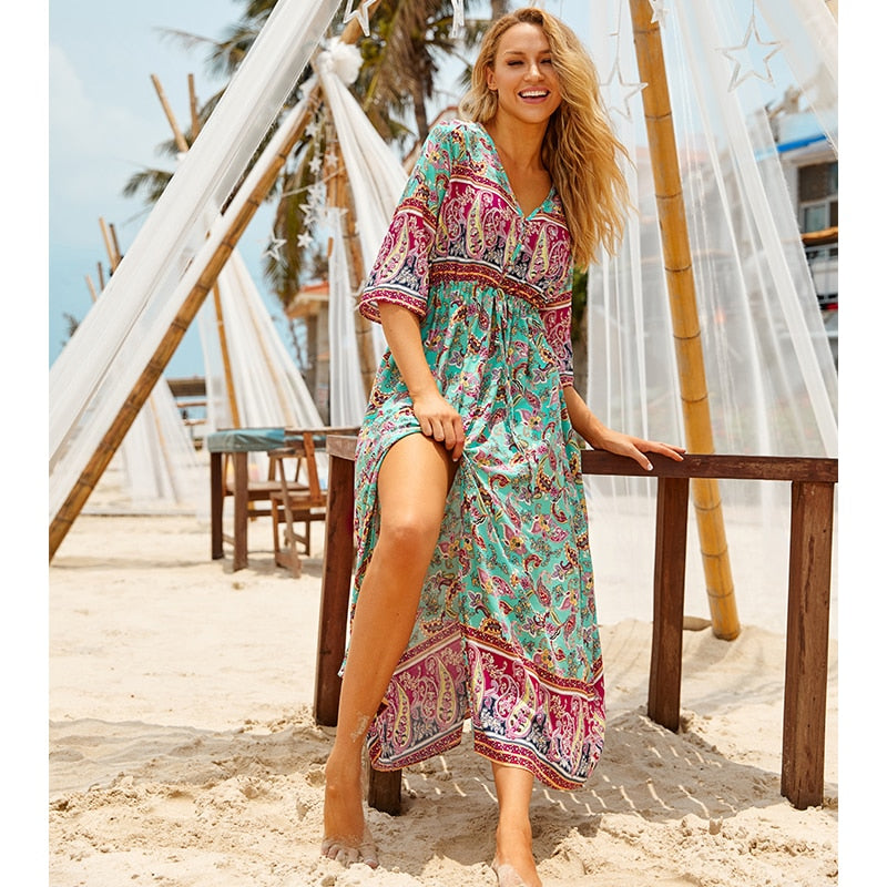 Oasis Elegant Beach Dress Cover Up