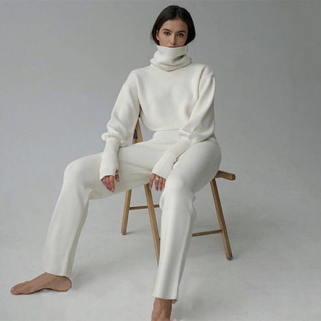 Lexi Turtleneck Pullover Sweater Suit