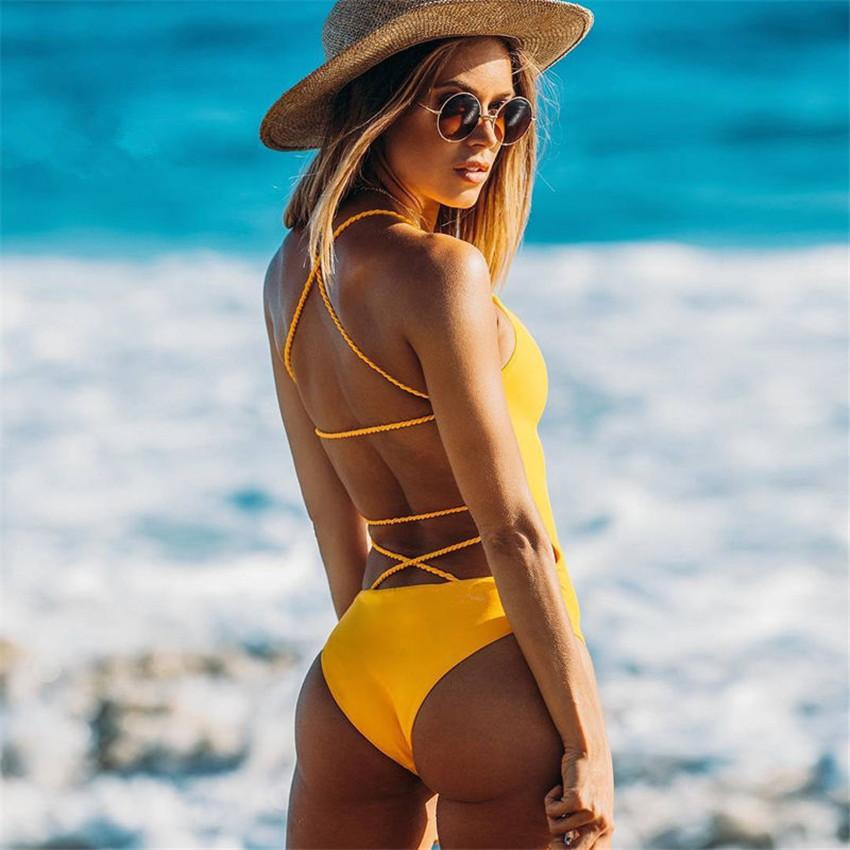 Strappy Back One-piece swimsuit , swimwear- Gilly and Bae