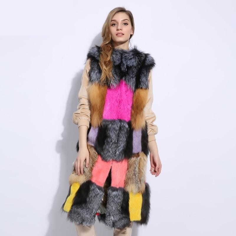 Mustn't Forget About Bright Pops Of Color Natural Fur & Genuine Leather Coat , Jacket- Gilly and Bae