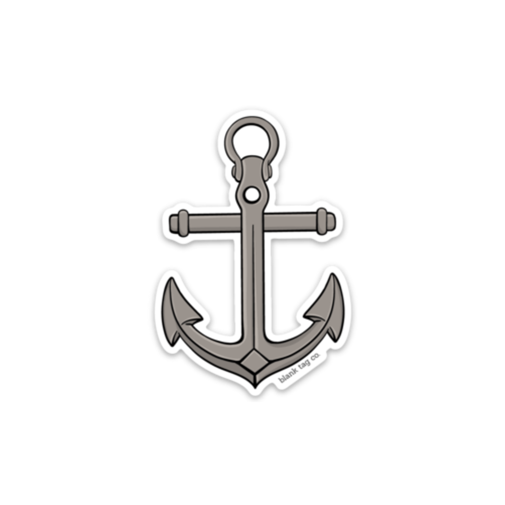 The anchor sticker blank tag co