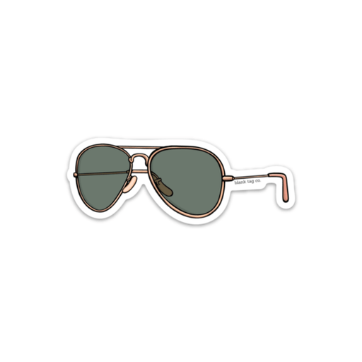The Aviator Sunglasses Sticker - Product Image