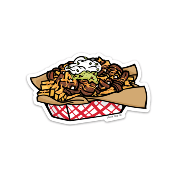 The Carne Asada Fries Sticker - Product Outline
