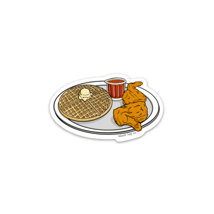 The Chicken and Waffles Sticker - Product Image
