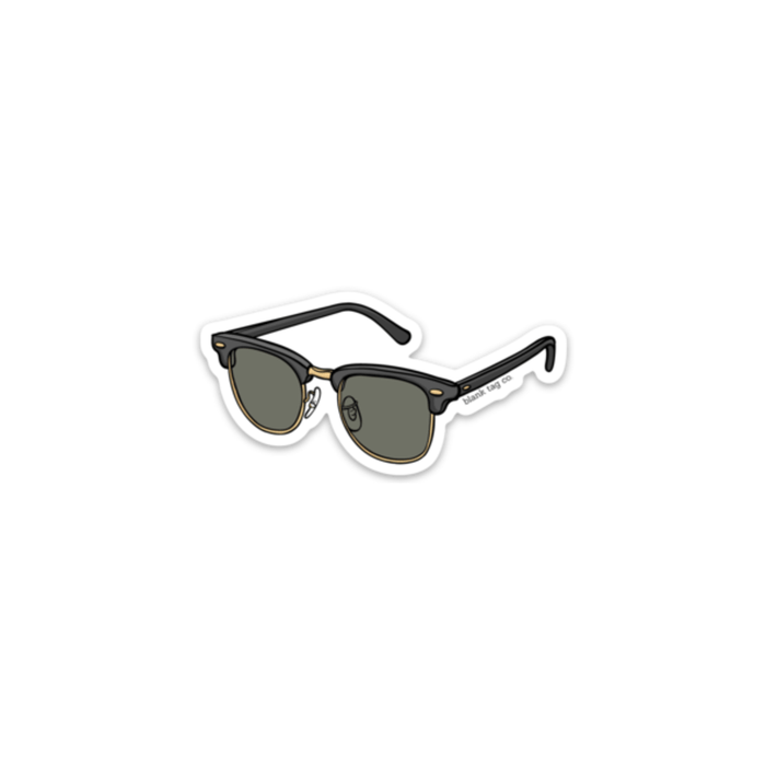 The Clubmaster Sunglasses Sticker - Product Image