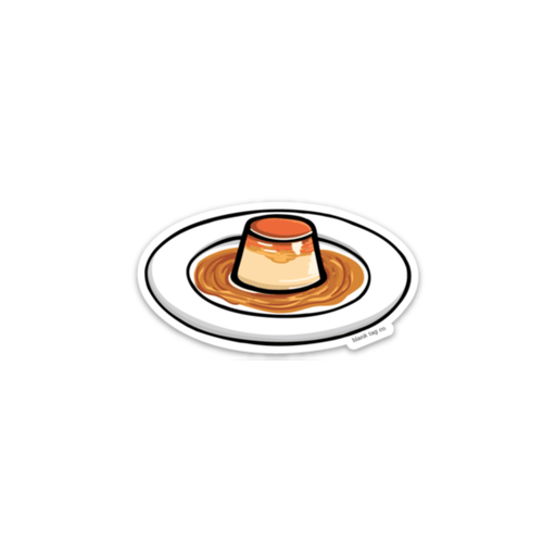 The Flan Sticker - Product Image
