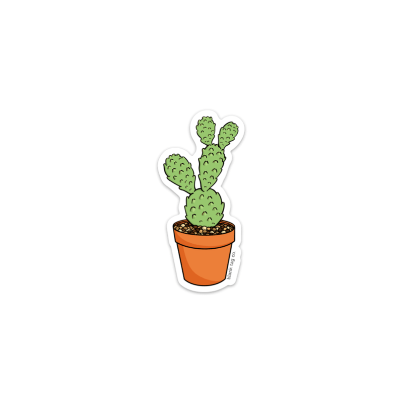 The Flat Mini Cactus Sticker - Product Image