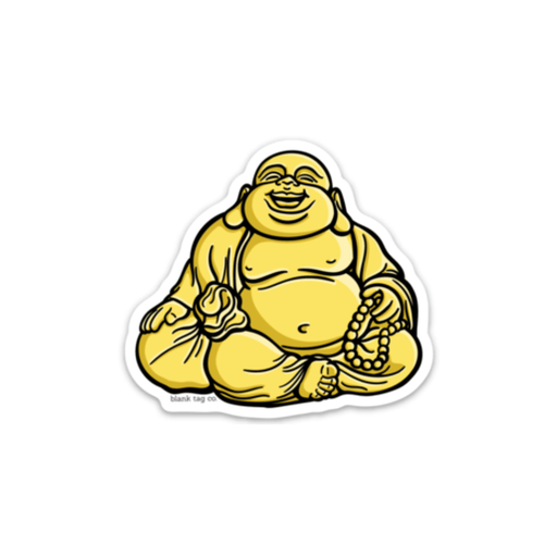 The Golden Buddha Sticker - Product Image