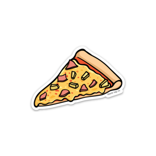 The Hawaiian Pizza Slice Sticker - Product Image