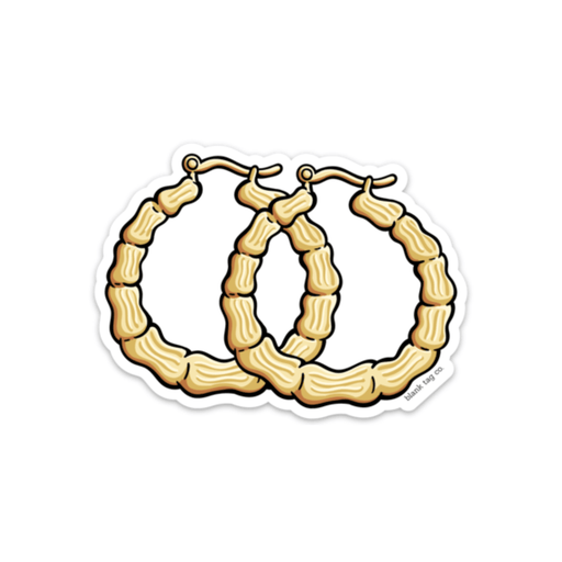The Hoop Earrings Sticker - Product Outline