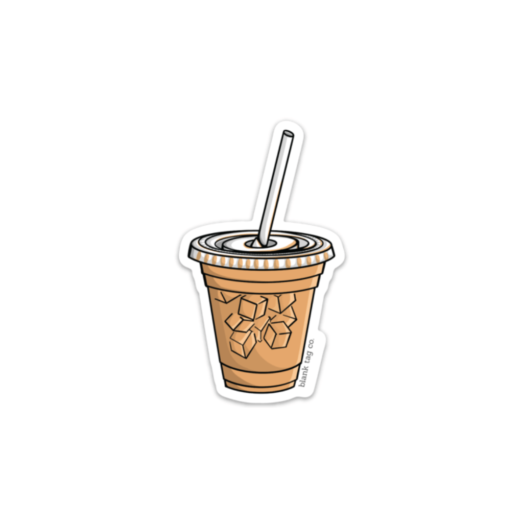 The Iced Coffee Sticker — blank tag co.