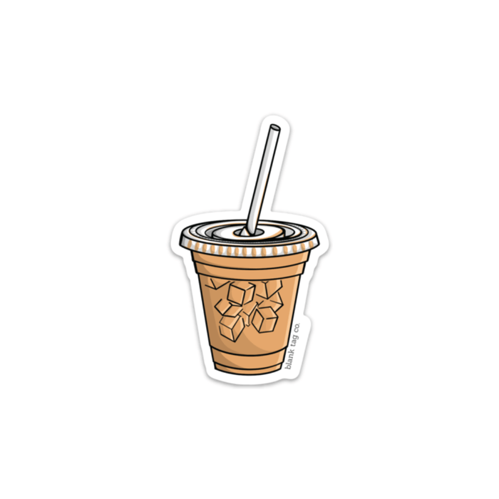 The Iced Coffee Sticker  U2014 Blank Tag Co