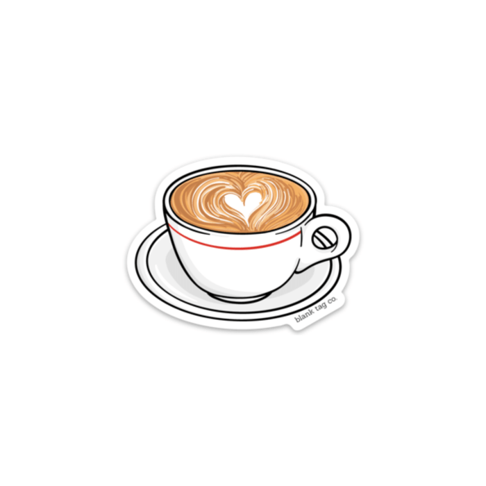 The Latte Sticker - Product Image