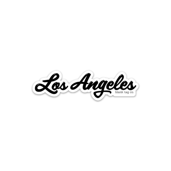 The Los Angeles Sticker - Black - Product Image