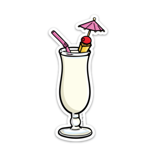The Pina Colada Sticker - Product Outline