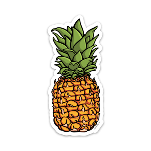 The Pineapple Sticker - Product Outline