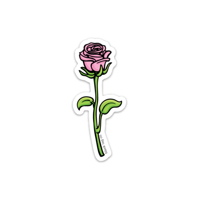 The Pink Rose Sticker - Product Image