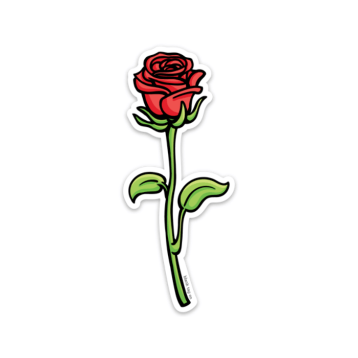 The Red Rose Sticker - Product Outline