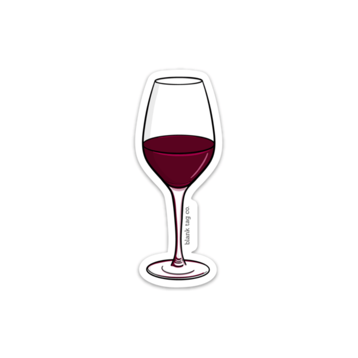 The Red Wine Sticker - Product Image