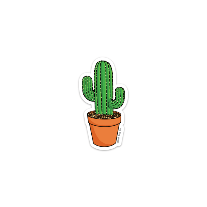 The Round Mini Cactus Sticker - Product Image